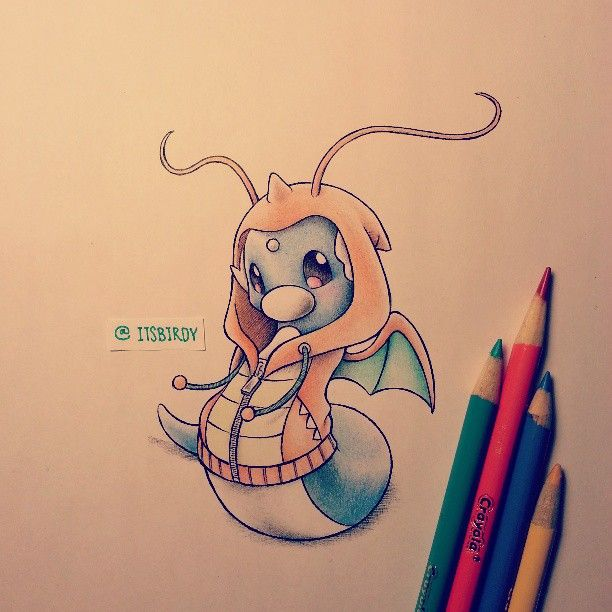 dratini in dragonite hoodie - Photo by itsbirdy