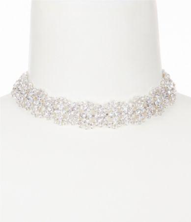 Cezanne Rhinestone Wave Choker Necklace #Dillards