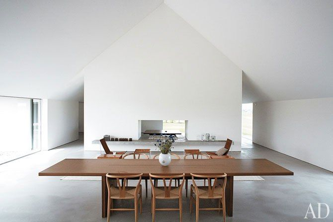 Spatial and chromatic restraint by John Pawson.