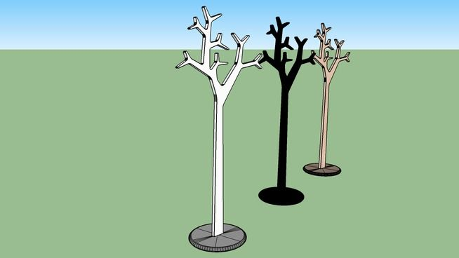 SWEDESE Large Coat tree stand... real size model. - 3D Warehouse