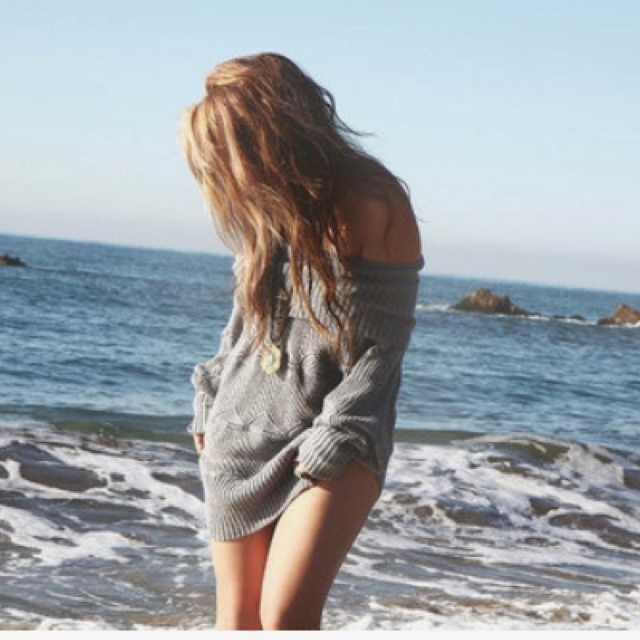 Beach sweater cover-up.