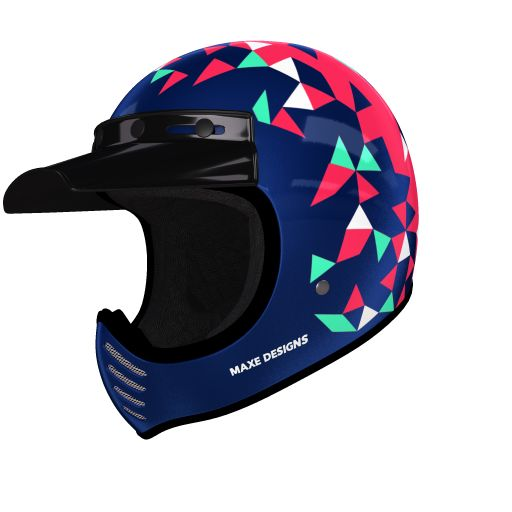 helmade Moto-3 Triangle Check this out! My very personal #helmade design on helmade.com :https://www.helmade.com/en/helmet-design-bell-moto-3-triangle-vintage-motorcross-helmet.html