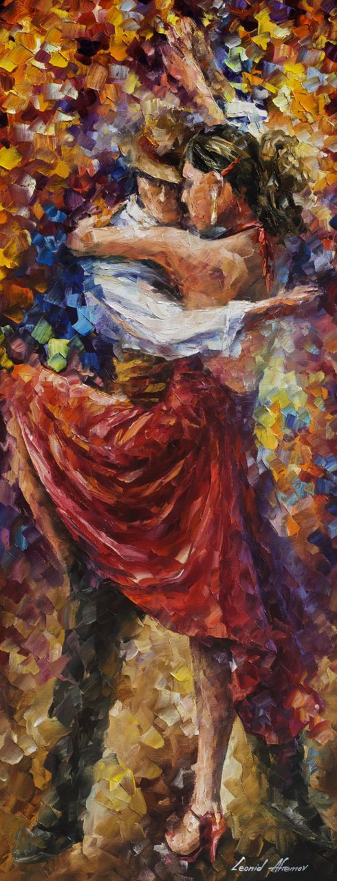 Tango of Movement by Leonid Afremov http://afremov.com/TANGO-OF-MOVEMENT-Palette-knife-Oil-Painting-on-Canvas-by-Leonid-Afremov-Size-16X40.html?bid=1&partner=14089 You can use 15% discount coupon - x25mk721oz