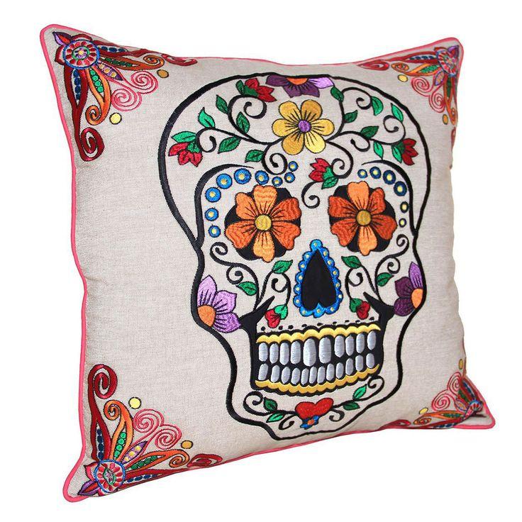 Sugar Skull Pillow Natural - inspiration