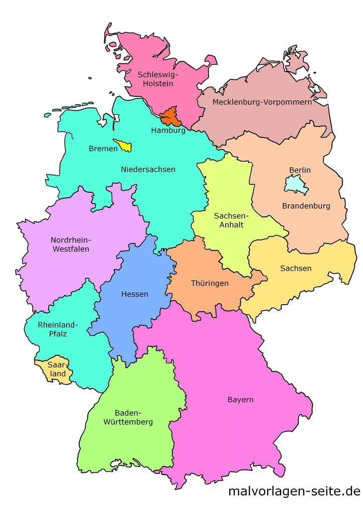 bundesländer auf der karte Wie heißen die 16 Bundesländer von Deutschland und ihre