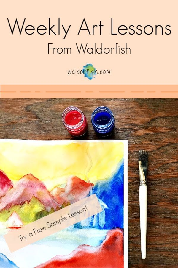 Waldorf Art Lessons from Waldorfish in 2020 | Homeschool art ...