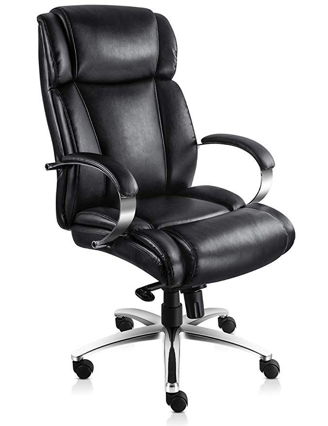 Vo Furniture High Back Executive Office Leather Chair Premium