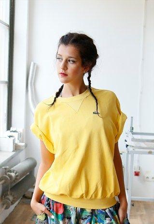 Vintage+Yellow+Lacoste+Sweatshirt