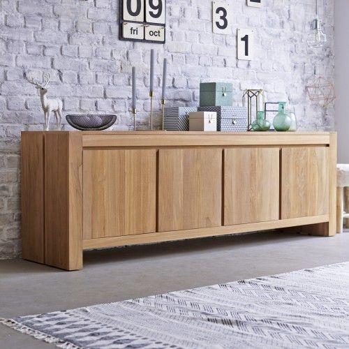 Buffet en Teck Style Classique - Achat Meuble 4 portes - Tikamoon