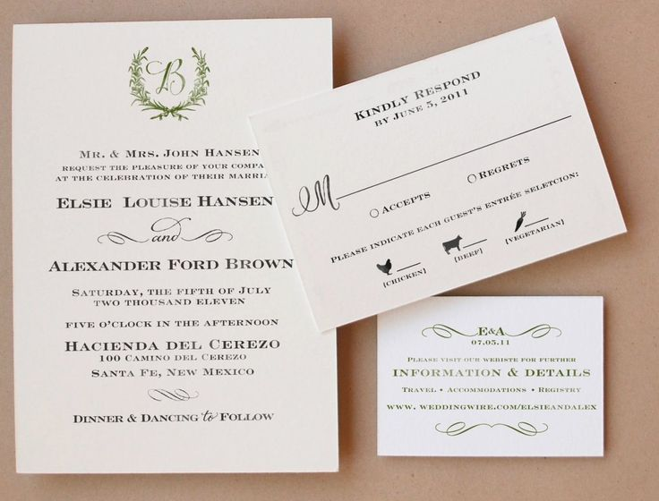 32 Wedding Invitations With Rsvp Included Ideas