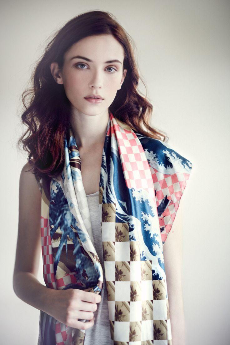 Tropical Silk scarf www.alva-norge.com