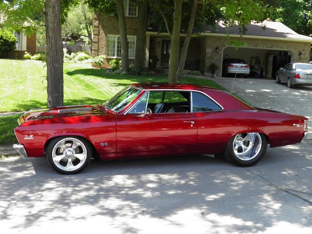 1967 Chevelle, love these and they nailed the stance. Must be tubbed to fit that crazy dish in the back.