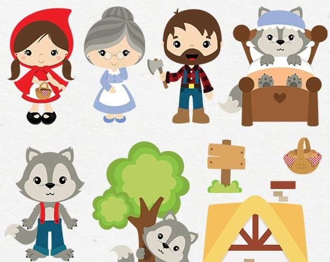 Fireman Clipart Job Occupation Clip Art Occupation Png Etsy Little Red Riding Hood Red Riding Hood Clip Art