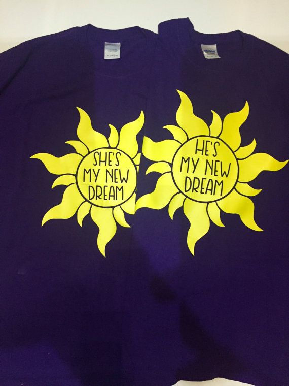 Disney's Tangled Couple Dream Shirt by WhimsicalWhiskersCo on Etsy