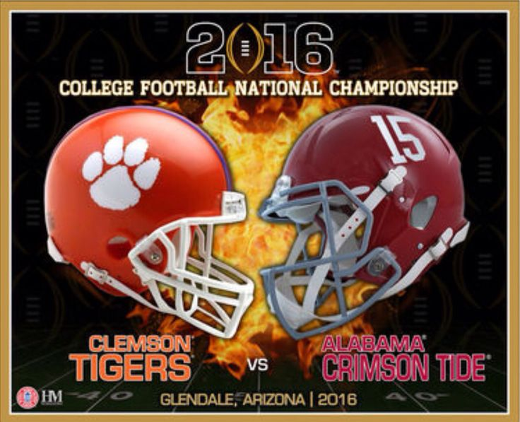 2016 College Football National Championship Alabama Crimson Tide vs Clemson Tigers #Alabama #RollTide #BuiltByBama #Bama #BamaNation #CrimsonTide #RTR #Tide #RammerJammer