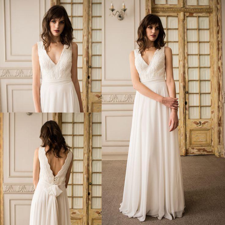 Vestido de novia minimal de macrame · Minimal macrame wedding dress