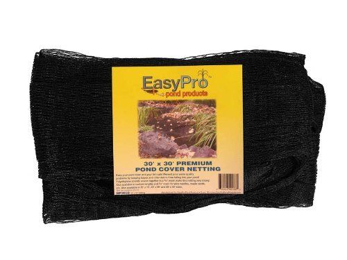 EasyPro NP2020 Premium Pond 3/4-Inch Cover Netting, 20-Feet x 20-Feet with 8 Stakes by Easy Pro Pond Products, us lawn and garden, EBRFK. $41.75. This kit comes with 3/4-inch 20-feet x 20-feet netting and 8-stakes to secure it in place. Helps to keep leaves and debris out of your pond. This strong black pond netting will last for years. This strong black pond netting will last for years, helps to keep leaves and debris out of your pond. This comes complete with 15-Feet x 15-Feet ...