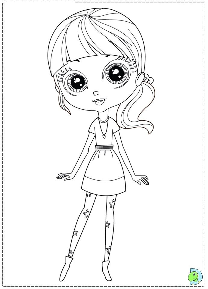 Coloriage Littlest Petshop Imprimer Little Pet Shop Sketches