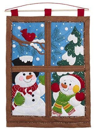 Winter Window Wall Hanging Kit from Bucilla