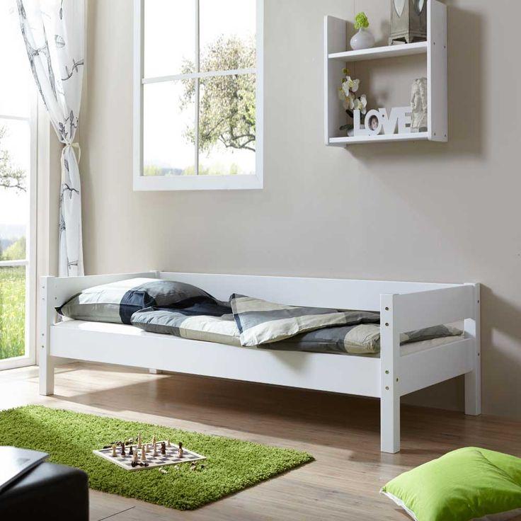 Simple Kinderzimmer Bett in Wei Buche Massivholz Jetzt bestellen unter https moebel
