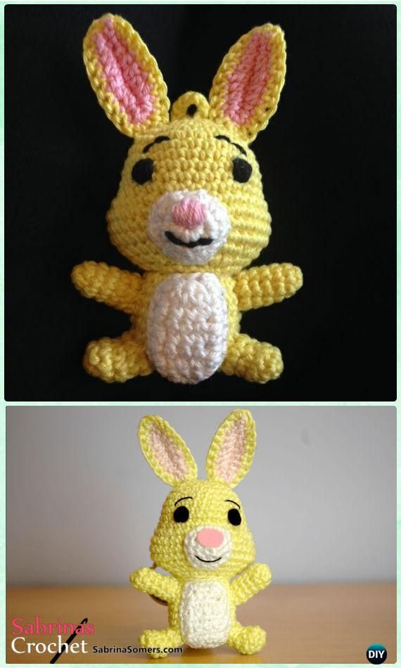 Crochet Amigurumi Winnie The Pooh Rabbit Free Pattern - Crochet Amigurumi Winnie The Pooh Free Patterns