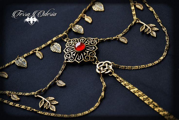 """""""Le feu de Beltane"""" superbe bracelet de bras d'inspiration médiéval et ethnique"""