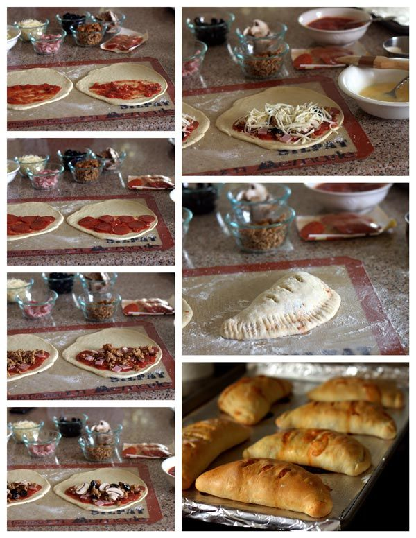 Calzones are a fun alternative to pizza and a great way to get your family in to the kitchen and baking with you.