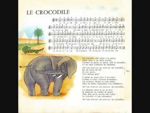 """Le crocodile"" - Les Quatre Barbus (Crocodile French Song) - YouTube"