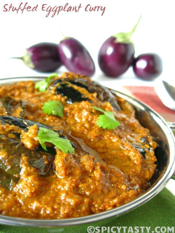 Stuffed Eggplant Curry - Baingan Curry | Spicy Tasty