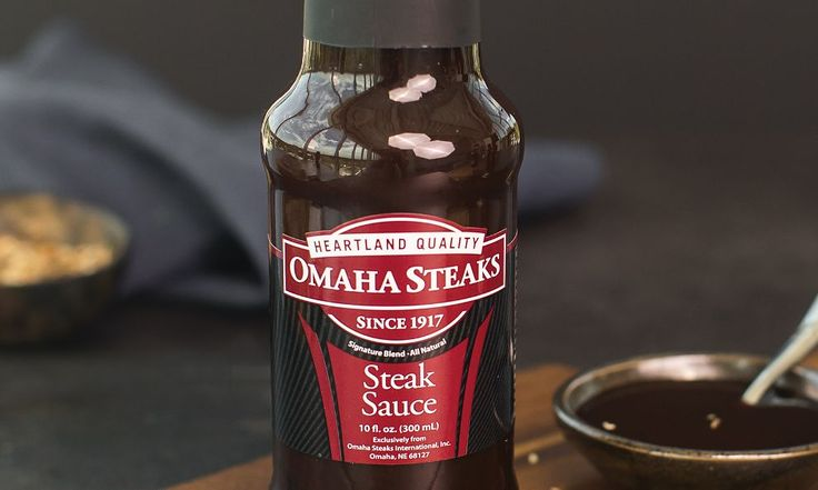 Omaha Steaks Steak Sauce   A touch of great steak sauce can be just the thing to make a great steak an incredible one. Our special all-natural recipe is great on the side, as a marinade or as a basting sauce for steaks and other gourmet meats. It's made with real molasses and plenty of onions, tomatoes, and spices for the perfect tangy, savory flavor.  Shop now: http://www.omahasteaks.com/product/Steak-Sauce-1-10-oz-12270?ITMSUF=WZB?SRC=RZ0637