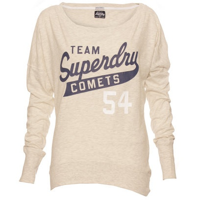 Superdry Womens Marl Burntout Long Sleeve T Shirt
