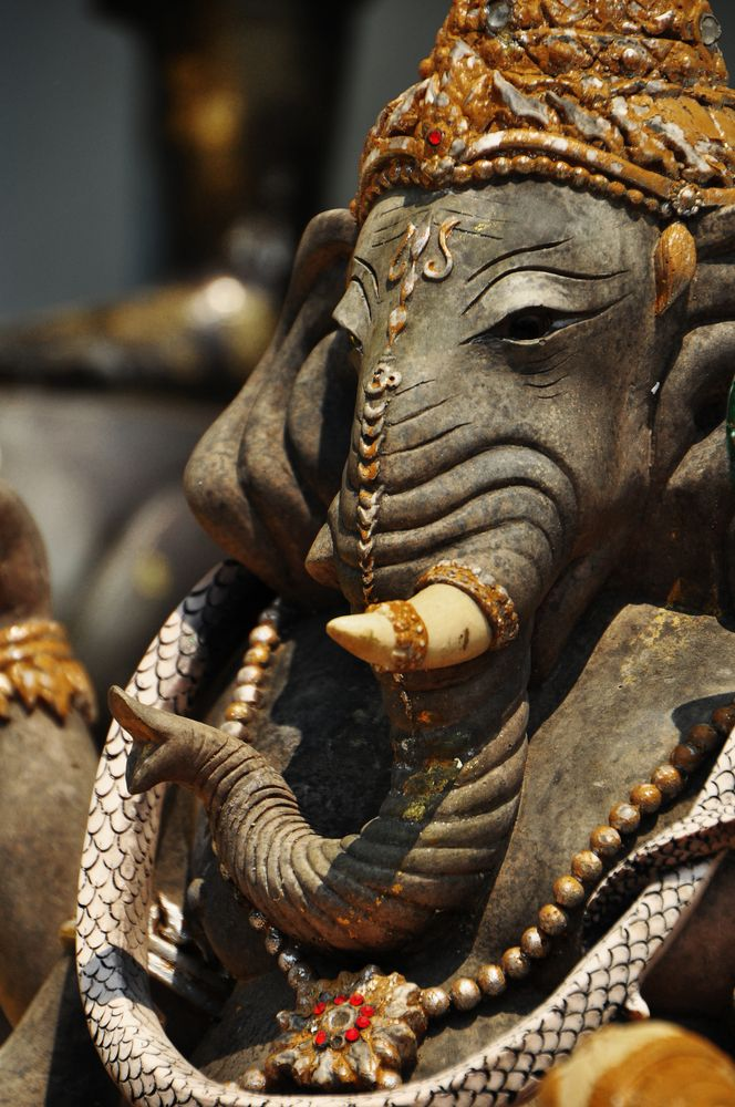 Hindu elephant deity Ganesha, the overcomer of obstacles