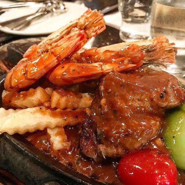 #steak #steakhouse #steakdinner#meat#shrimp#prawns #tenderloin #blackpeppersauce #blackpeppersteak #blackpepper#ステーキハウス #ステーキ #えび #エビ #肉#花園餐廳 #牛扒 #牛扒餐#牛排