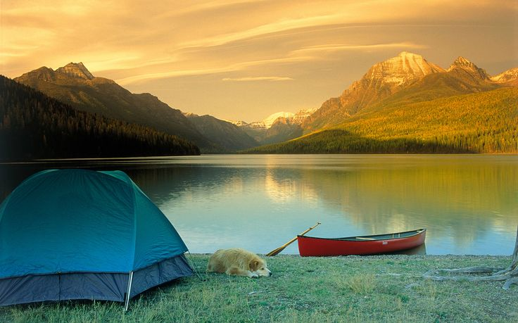 Montana's Glacier National Park is home to 700 miles of breathtaking trails that wind through lakes, mountain ranges and glaciers--it's the perfect spot for a relaxing camping trip.