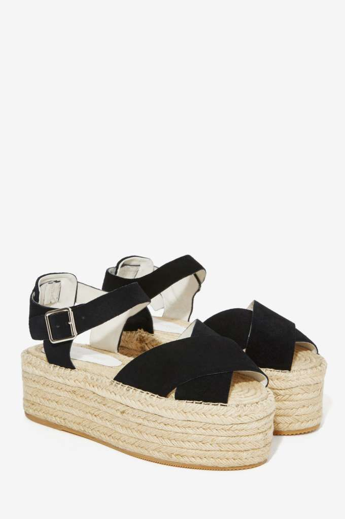 Jeffrey Campbell Maroma Suede Flatforms - Shoes | Sandals | Platforms | Jeffrey Campbell