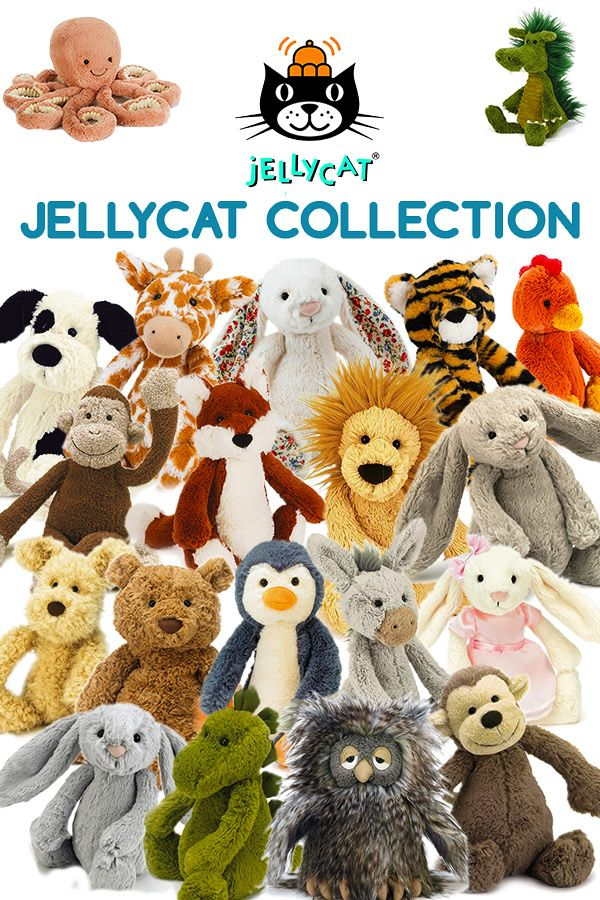Official JellyCat plush toys! So soft and cuddly. One of the hottest toy brands for kids in 2017. For babies, toddlers and children of all ages...