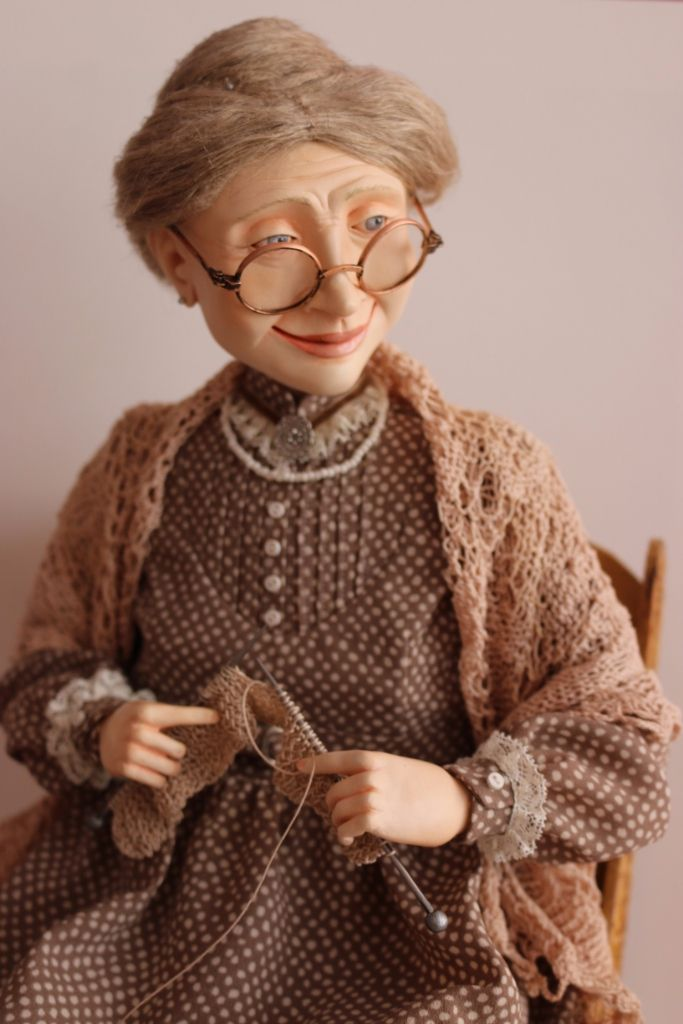 """Бабушка, милая моя..."" • Dolls Collection by Evgenia Egorova on Kolektado"