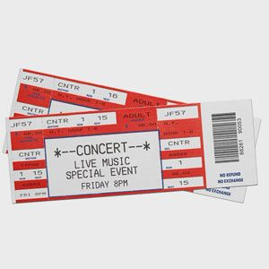 Tickets to Concert or Sporting Event