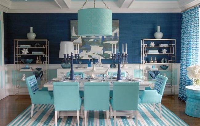 Maritimes Esszimmer Einrichten Aqua Farben Und Symbole Des