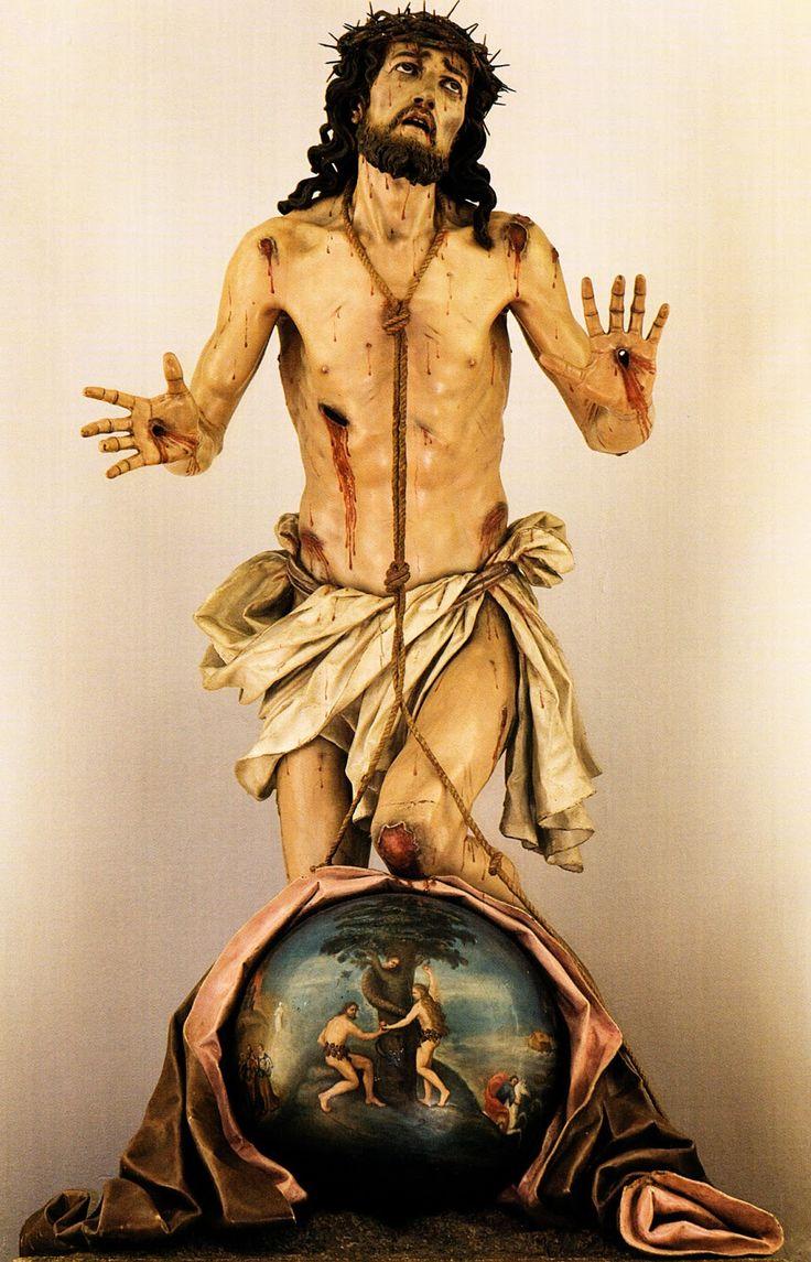 Luis Salvador Carmona - Cristo del Perdón - Nava del Rey - 1751-53 / Copia del original de Manuel Pereira perdido en 1936