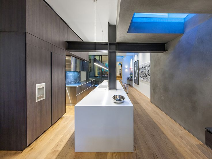 Victorian Terrace House renovated and extended by Nicholas Murray Architects featuring mafi Oak Character Brushed Natural Oil floorboards in the kitchen, dining & living room   mafi