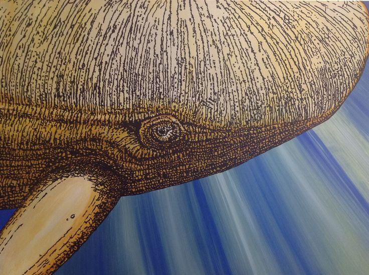 Leviathan 122 x 90cm Acrylic on Canvas