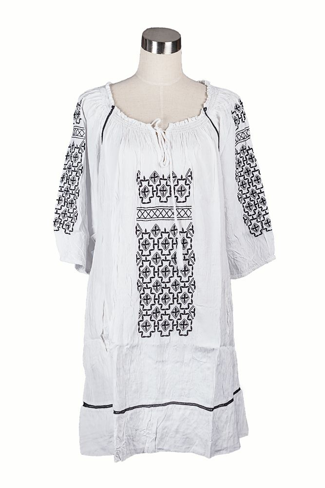 Team the white Cake tunic with a black long sleeve tee, leggings and boots for Winter warmth
