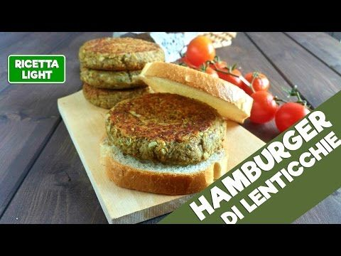 Hamburger light di lenticchie (145 calorie l'uno) | Le ricette super light di Giovi