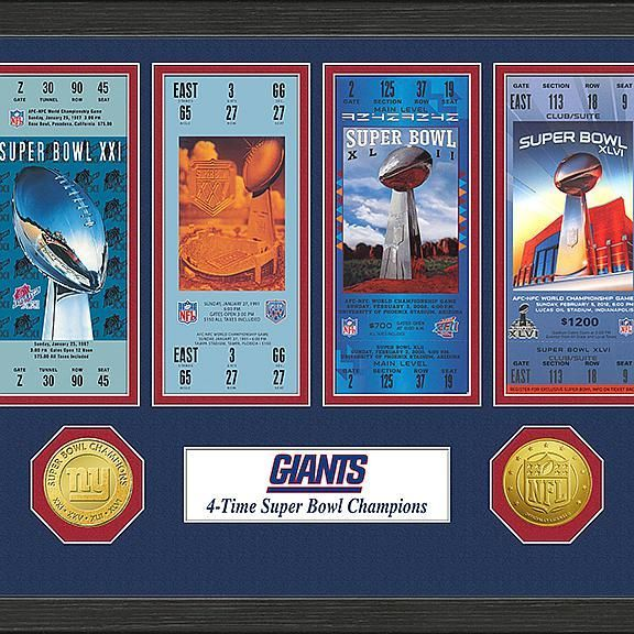 Officially Licensed NFL Super Bowl Ticket & Game Coin Collection by The Highland Mint -