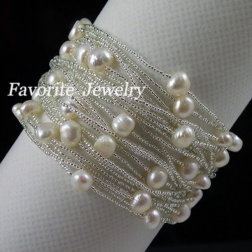 seed beads and pearls.