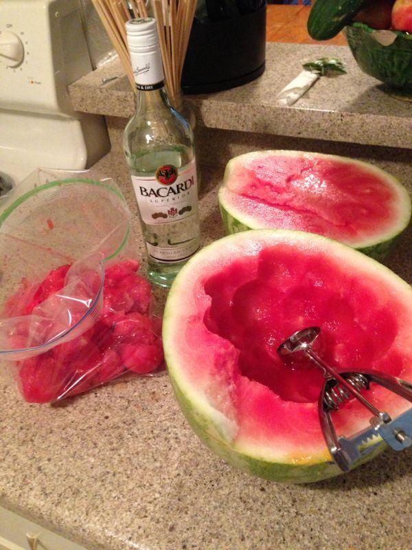 Mama K's Kitchen: Spiked Watermelon