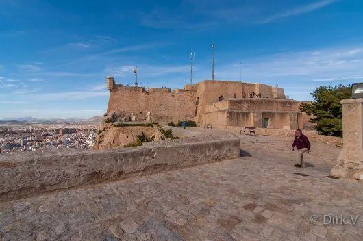 Santa Barbara Castle, Alicante, Spanje.