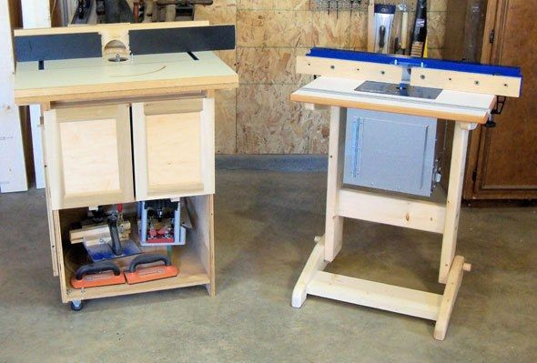 Shop made router table part iii the stand shops for How to make a router table stand