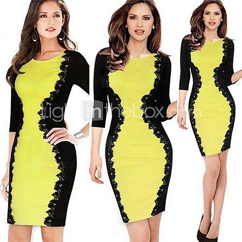 monta westerse stijlen sexy dan hip halve mouwen kanten jurk | LightInTheBox